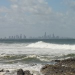 View of Surfers Paradise from Currumbin Beach