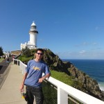 Me in front of the Cape Byron Lighthouse