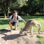 Me and a Red Kangaroo