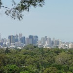 View of Brisbane from the botanical gardens