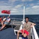 Me on the boat to the Great Barrier Reef