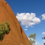 Steep ascent to the top of Uluru