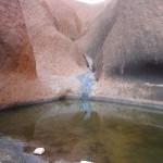 Waterhole at the base of Uluru