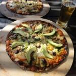 Pizza at the Sedgefield beach bar