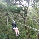 Hannah zip-lining