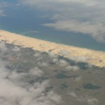 Flying over beaches just down the coast from Port Elizabeth