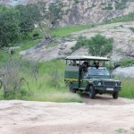 One of the nighttime game drive vehicles