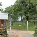 Entrance gate at Nkambeni camp