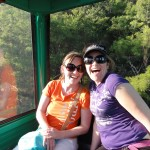 Shammy and Noz on the Hartbeespoort cableway