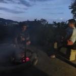Mark cooking on the braai