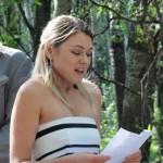 Sarah (Matt's sister) reading a poem