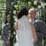 Matt and Lita saying their vows