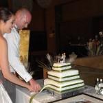Matt and Lita cutting the cake