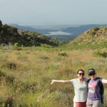 Kat and Noz on the mountain hike