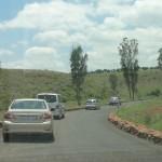 Leaving the Askari Game Lodge in convoy