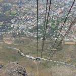 Descending the cableway