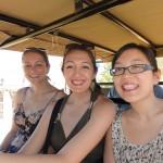 """Hannah, Lita and Kat on the """"big five"""" wine safari"""
