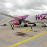 Our WizzAir flight to Romania