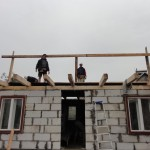 Work on the pitched roof begins