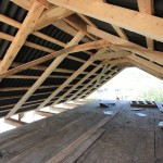 Inside the finished roof