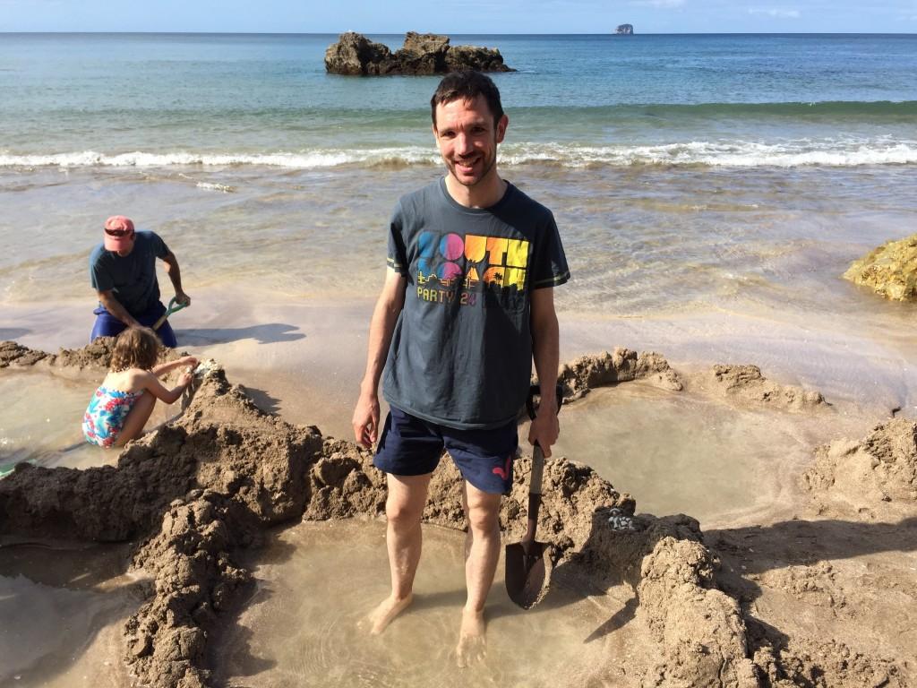 Howie on Hot Water Beach